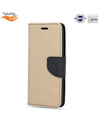 TakeMe Fancy Diary Bookstand Case Huawei P30 Gold/Black