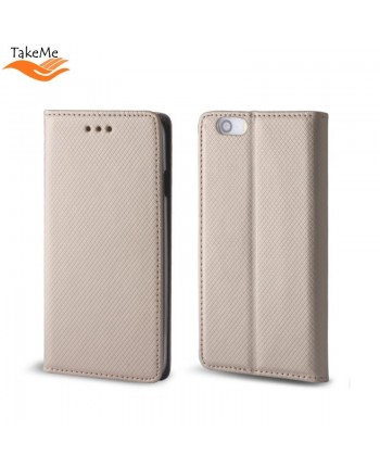 TakeMe Smart Magnetic Fix Book Case without clip Huawei P30 Gold