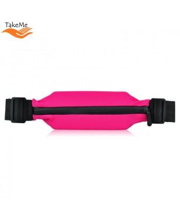 TakeMe Multifunciton Universal Fitness & Running Waist bag (20x9cm) Pink