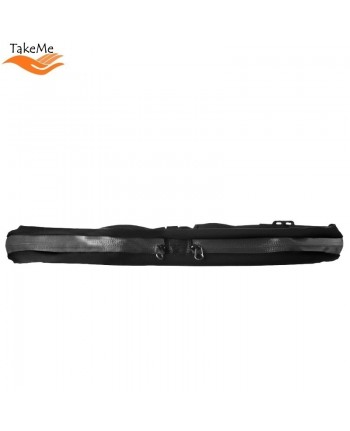 TakeMe Universal Fitness & Running Waist bag with reflector and 2 zipped pockets (44x8.5cm) Black