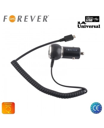 Forever 1A Compact Design Car Charger Micro USB (Universal) 1,2m Cable Euro CE