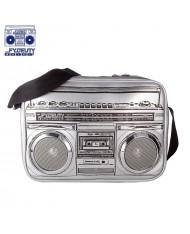 Fydelity Jambox G-Force Shoulder Bag with Speakers (35х20х10сm) Silver
