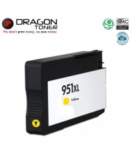 Dragon HP 951XL Yellow CN048A INK Cartridge 25ml for OfficeJet Pro 8100 8600 N911a HQ Premium Analog