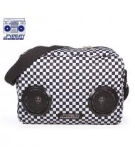 Fydelity Graphique G-Force Indy Shoulder Bag with Speakers (35х20х10сm) Black/White