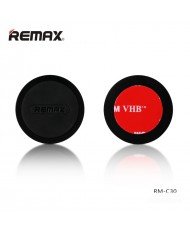 Remax RM-C30 Car Sicky Tape Metal Body Magnetic holder with flat round shape for any spartphone Black