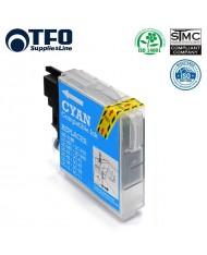TFO Brother LC1100C / LC980C Cyan INK Cartridge 19ml DCP-385C DCP-145C etc HQ Premium Analog