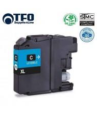 TFO Brother LC125XL (LC-125XLC) Cyan INK Cartridge 15ml for DCP-J4110DW etc HQ Premium Analog