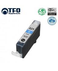TFO Canon CLI-521C Cyan XL INK Cartridge 11ml for  Pixma ip3600 etc 2934B001AA HQ Premium Analog