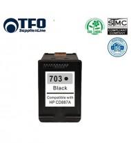TFO HP 703 Black XL CD887AE INK Cartridge 17ml for DeskJet D730 F735 K109g K209g etc HQ Premium Analog