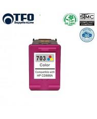 TFO HP 703 Color XL CD888AE INK Cartridge 15ml for DeskJet D730 F735 K109g K209g etc HQ Premium Analog