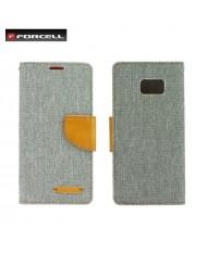 Forcell Canvas Flexi Flip book case Samsung J730F Galaxy J7 (2017) Grey