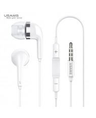 Usams EP-23 Eletroplating Universal In-Ear Music and Calls Headset 3.5mm with Mic and Remote White