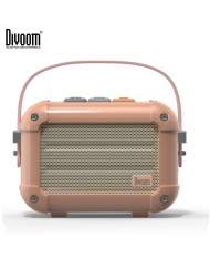 Divoom Macchiato Retro VHS Style 6W DSP Bluetooth Speaker with Incredible Sound + Stylish Carrying Case Pink