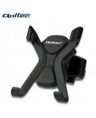 """Qoltec 51214 Car Air Vent Grill Holder for any Smartphone 6.4-9cm wide (4.0""""-7.0"""" screen diagonal) Black"""