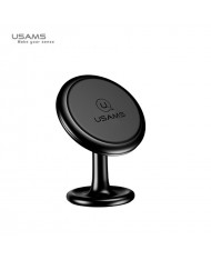 Usams US-ZJ049 Car Sticky Tape Metal Body Magnetic Fix Universal holder with 360 degree rotation Black