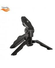 TakeMe Universal Plastic Tripod holder for Phones / Cameras (max. 15cm) Black