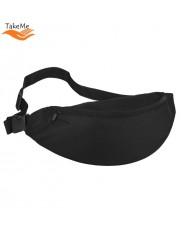 TakeMe Universal Super Spacious Sport & Travel Waist bag with 2 pockets (38x15cm) Black