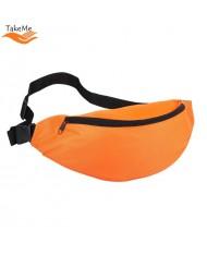 TakeMe Universal Super Spacious Sport & Travel Waist bag with 2 pockets (38x15cm) Orange