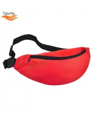 TakeMe Universal Super Spacious Sport & Travel Waist bag with 2 pockets (38x15cm) Red