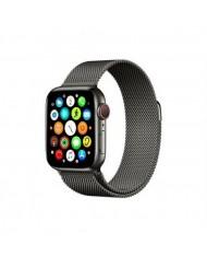Mercury Elegant Stainless steel bracelet-strap for Apple Watch 4 / 5 / 6 / SE series 44mm Black