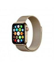 Mercury Elegant Stainless steel bracelet-strap for Apple Watch 4 / 5 / 6 / SE series 44mm Gold