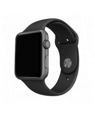 Mercury Classic soft silicone strap for Apple Watch 4 / 5 / 6 / SE series 44mm Black