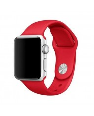Mercury Classic soft silicone strap for Apple Watch 4 / 5 / 6 / SE series 44mm Red