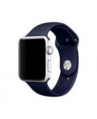 Mercury Classic soft silicone strap for Apple Watch 4 / 5 / 6 / SE series 44mm Dark blue