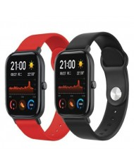 Beline Classic soft silicone strap for Smart Watches with strap width 22mm Red