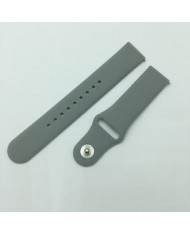 Beline Classic soft silicone strap for Smart Watches with strap width 22mm Grey