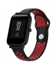 Beline Perforated soft silicone Dotted strap for Smart Watches with strap width 20mm Black/Red