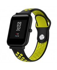 Beline Perforated soft silicone Dotted strap for Smart Watches with strap width 20mm Black/Yellow