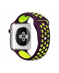 Beline Perforated soft silicone Dotted strap for Smart Watches with strap width 20mm Violet/Green