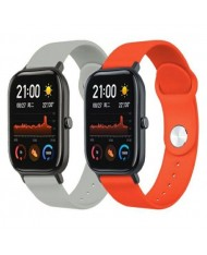 Beline Classic soft silicone strap for Smart Watches with strap width 20mm Orange