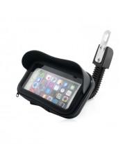 Wozy BK1 Moto & ATV Quad Mirror Fix Waterprof Smartphone & GPS (5.5'' max) Sun Visor Holder Black