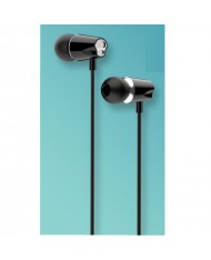 iKaku Jinyan Universal In-Ear Music and Calls Headset 3.5mm 1.2m Cable with Microphone and Remote Black