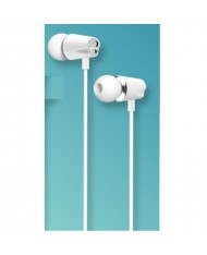 iKaku Jinyan Universal In-Ear Music and Calls Headset 3.5mm with Microphone and Remote White