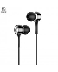 iKaku Aosheng Universal In-Ear Music and Calls Headset 3.5mm 1.2m Cable with Microphone and Remote Black