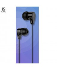 iKaku Xunlang Universal In-Ear Music and Calls Headset 3.5mm 1.2m Cable with Microphone and Remote Black