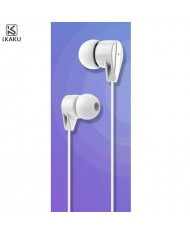 iKaku Xunlang Universal In-Ear Music and Calls Headset 3.5mm 1.2m Cable with Microphone and Remote White