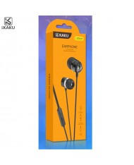 iKaku Qingyin Universal In-Ear Music and Calls Headset 3.5mm 1.2m Cable with Microphone and Remote Black
