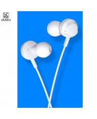iKaku Kongling Universal In-Ear Music and Calls Headset 3.5mm 1.2m Cable with Microphone and Remote White