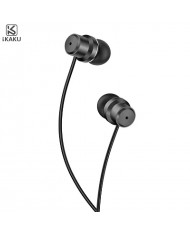 iKaku Zhiyin Universal In-Ear Music and Calls Headset 3.5mm 1.2m Cable with Microphone and Remote Black