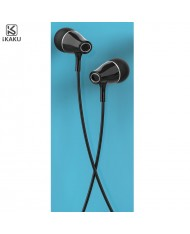 iKaku Erman Universal In-Ear Music and Calls Headset 3.5mm 1.2m Cable with Microphone and Remote Black