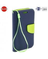 Telone Fancy Diary Bookstand Case LG Leon H340N Blue/Light Green