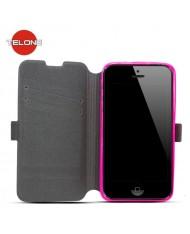 Telone Super Slim Shine Book Case with stand LG D390 Optimus F60 Pink