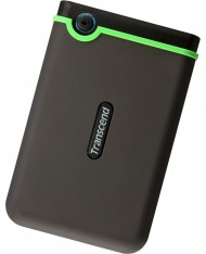 External HDD | TRANSCEND | StoreJet | 1TB | USB 3.0 | Colour Green | TS1TSJ25M3S