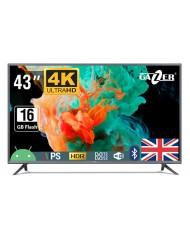 "TV Set GAZER 43"" 4K/Smart 3840x2160 Wireless LAN Bluetooth Android Graphite TV43-US2G"