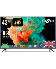 "TV Set GAZER 43"" Smart/FHD 1920x1080 Wireless LAN Bluetooth Android TV43-FS2G"