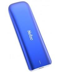 External SSD|NETAC|250GB|USB-C|Write speed 930 MBytes/sec|Read speed 980 MBytes/sec|NT01ZX-250G-32BL